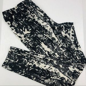 INC Sz OX Leggins Women's Snake Print Yoga Gym
